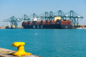 The port of Valencia receives the largest ship in its history